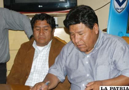 Ayaviri y Mamani dirigentes del club San José