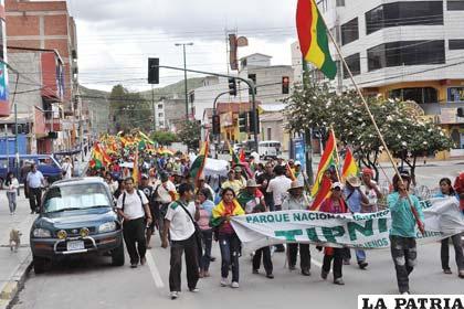 La marcha del Conisur llegó a Cochabamba ante la indiferencia ciudadana y el apoyo gubernamental