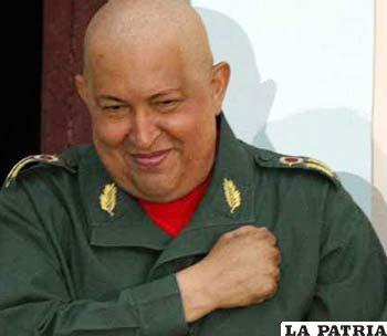 Presidente venezolano, Hugo Chávez