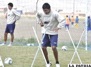 Didí Torrico en el entrenamiento de San José