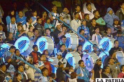 Los hinchas de Bolívar no pierden la esperanza de jugar la Copa (foto: APG)