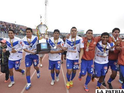 Festejo de los jugadores de San José