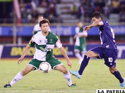 Del partido jugado anoche entre Bolívar y Oriente (foto: APG)