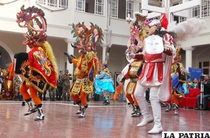 Demostración de danza de la Diablada Auténtica