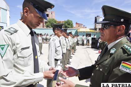 Ledezma por el subcomandante de la Policía, coronel Grover Mercado