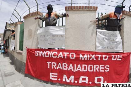 Trabajadores de EMAO llegaron a un acuerdo luego de la huelga donde obreros se crucificaron