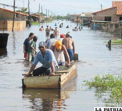 Durante las primeras semanas de la temporada de lluvias, el departamento de Potosí fue el más afectado por las inclemencias del tiempo