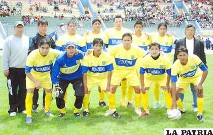 Jugadores del equipo de Huanuni