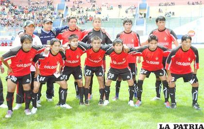 Los integrantes del equipo de Colquiri