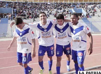 Gomes, García, Saucedo y Angola jugadores de San José