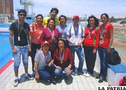 Nadadores del club Picaltultus en Arica-Chile
