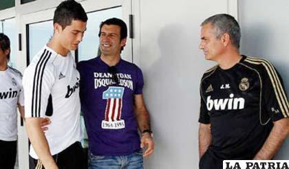 Ronaldo, Figo y Mourinho