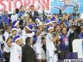 Festejo de los jugadores de Millonarios que conquistaron el título del fútbol colombiano