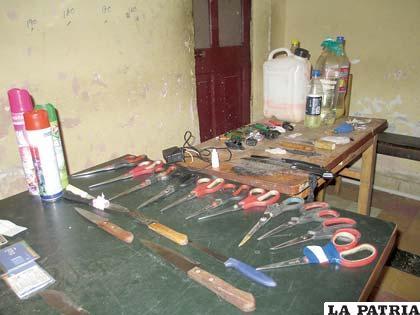 Los objetos ilegales secuestrados a los internos del penal en noviembre