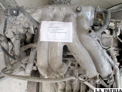 El motor que dio el indicio para descubrir un garaje con autopartes robadas
