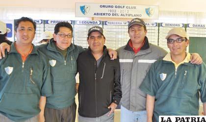 Golfistas que participaron en el Abierto del Altiplano