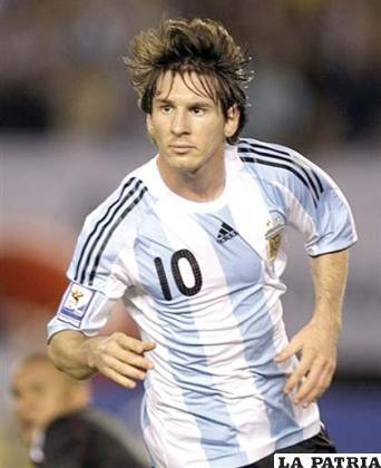 Lionel Messi jugador de la selección argentina