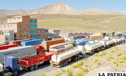 Exportación e importación por Tambo Quemado