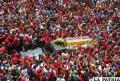 Gente despide a Hugo Chávez