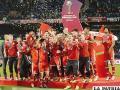 Festejo de los jugadores de Bayern de Múnich