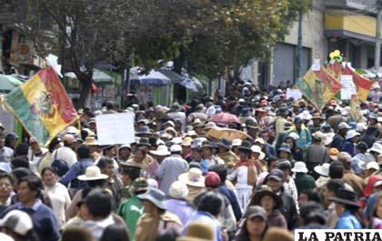 Tras el nombramiento de ciudad maravillosa La Paz volvió a las protestas