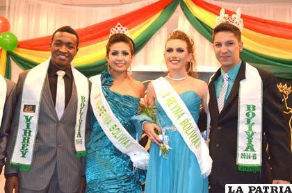 Ganadores del certamen Reinado de Belleza Boliviana