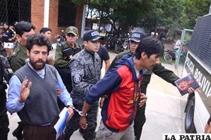 Elmer Lizarazu y Herbert Valencia fueron llevados a la cárcel