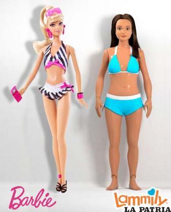 Comparación entre las muñecas Barbie y Lammily