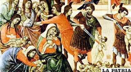Imagen que recuerda la matanza ordenada por Herodes