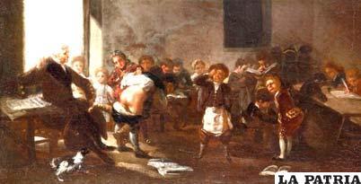 El castigo escolar formaba parte del sistema educativo en el pasado