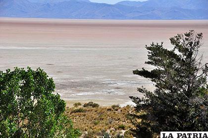 Vista del lago desde la Isla de Panza