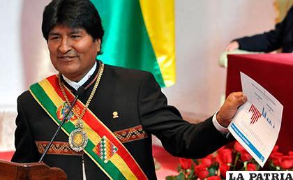Evo Morales pretende quedarse en el Gobierno por cinco años más
