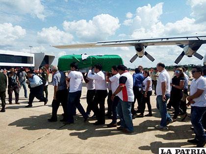 La aeronave arribó inicialmente a Cobija y luego se dirigió al aeropuerto de Viru Viru en Santa Cruz /FAB