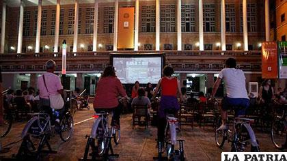 Los espectadores tendrán que pedalear para disfrutar de la programación del festival /ELDIARIO.ES