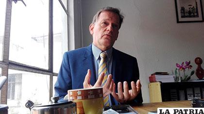 Roger Denzer, embajador de Suiza en Bolivia /ANF