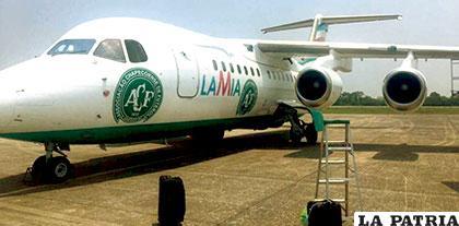 La aeronave que transportaba al equipo brasileño /panamanpost