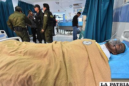 Cuando los uniformados lo rescataron, el hombre ya estaba inconsciente /APG
