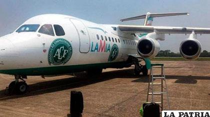 El avión que el empresario venezolano alquilaba en Bolivia /infobae.com