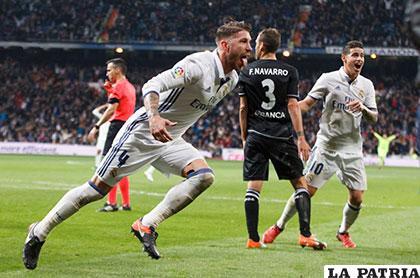 Sergio Ramos le volvió a dar la victoria al Real Madrid en el  descuento 3-2