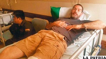 Zvonko Matkovic, enmanillado bajo custodia policial /EL DIA