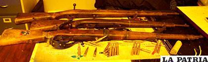 Los rifles Máuser secuestrados en esa población nortepotosina