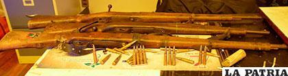 El armamento secuestrado por personal de Narcóticos /Archivo