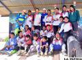 Las orureñas Beltrán, Calisaya y Urrelo  destacaron en el nacional de bicicross