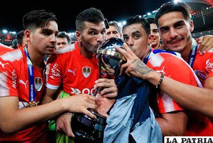 Celebran los de Independiente un nuevo título internacional /bolavip.com