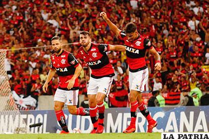 Flamengo abrió el marcador mediante Lucas Paquetá /conmebol.com