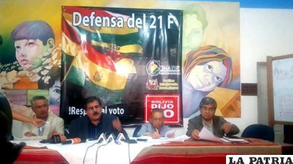 Dirigentes del Comité Nacional de Defensa de la Democracia llamaron a conferencia de prensa/ ANF