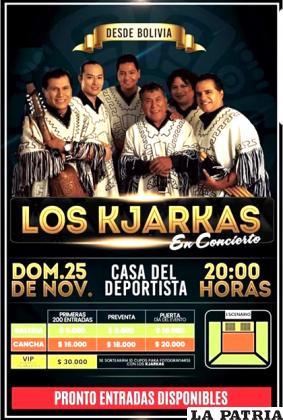 La invitación hecha por el grupo boliviano en Chile / Kjarkas