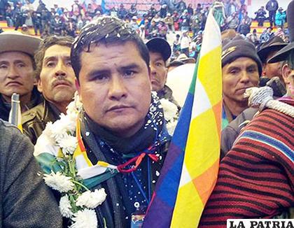 El líder de la Csutcb, Jacinto Herrera, advirtió de la medida de presión/ EL DÍA