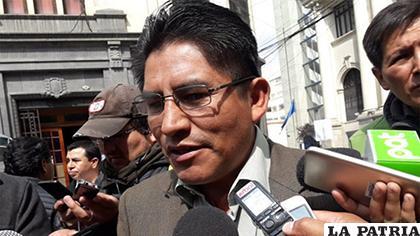 El gobernador paceño Félix Patzi /ANF