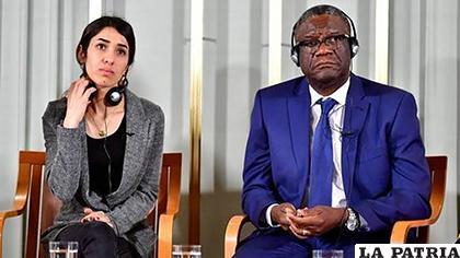 La iraquí Nadia Murad y Denis Mukwege, premios Nobel de la paz/AFP